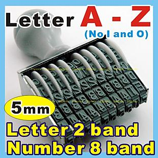 5mm_ A-Z + 8 band number